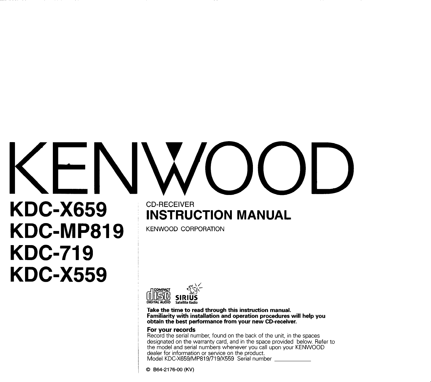 kenwood excelon kdc x559 users manual  usermanual.wiki