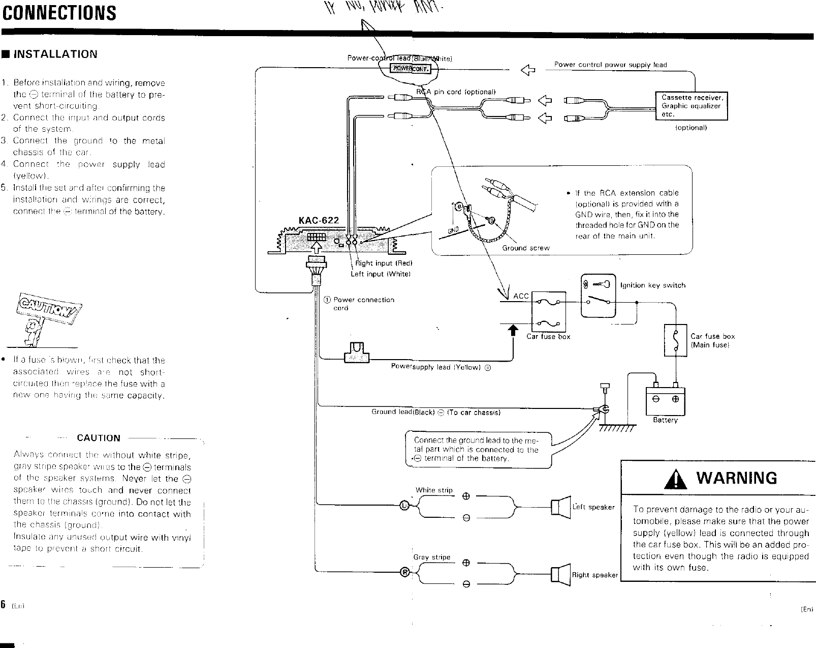 Kenwood Kac 622 Owner S Manual Car Fuse Box Short Page 4 Of 5