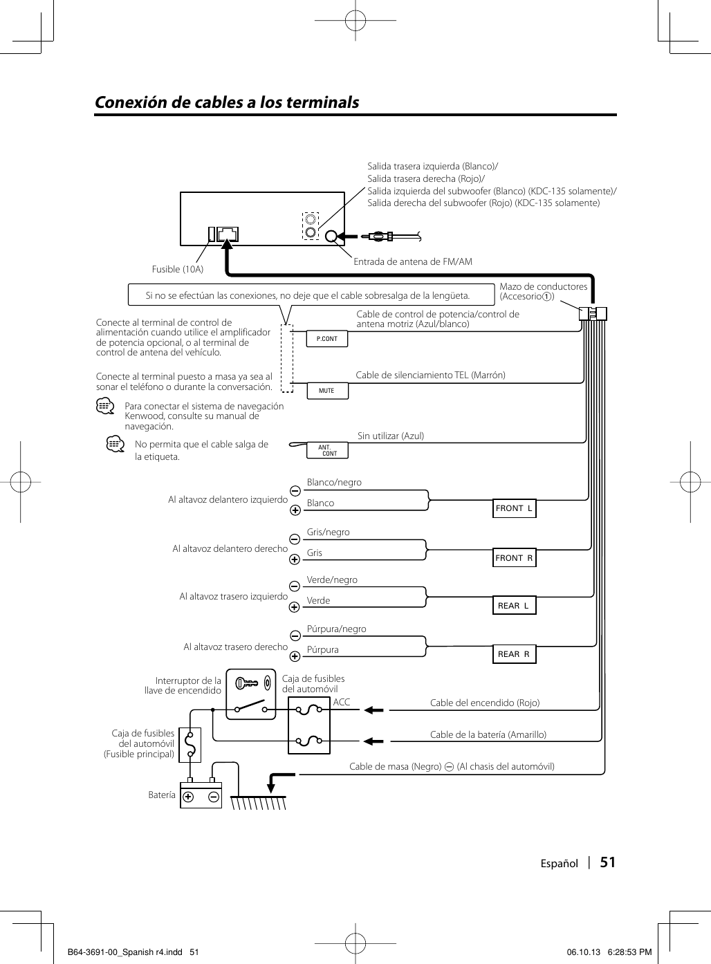 34 Kenwood Kdc 138 Wiring Diagram