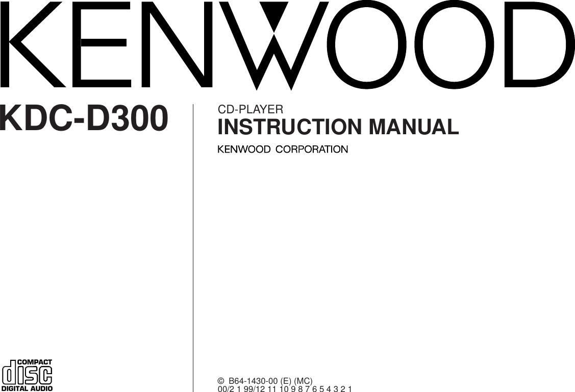 Wiring Diagram Kdc D300 Cd Player