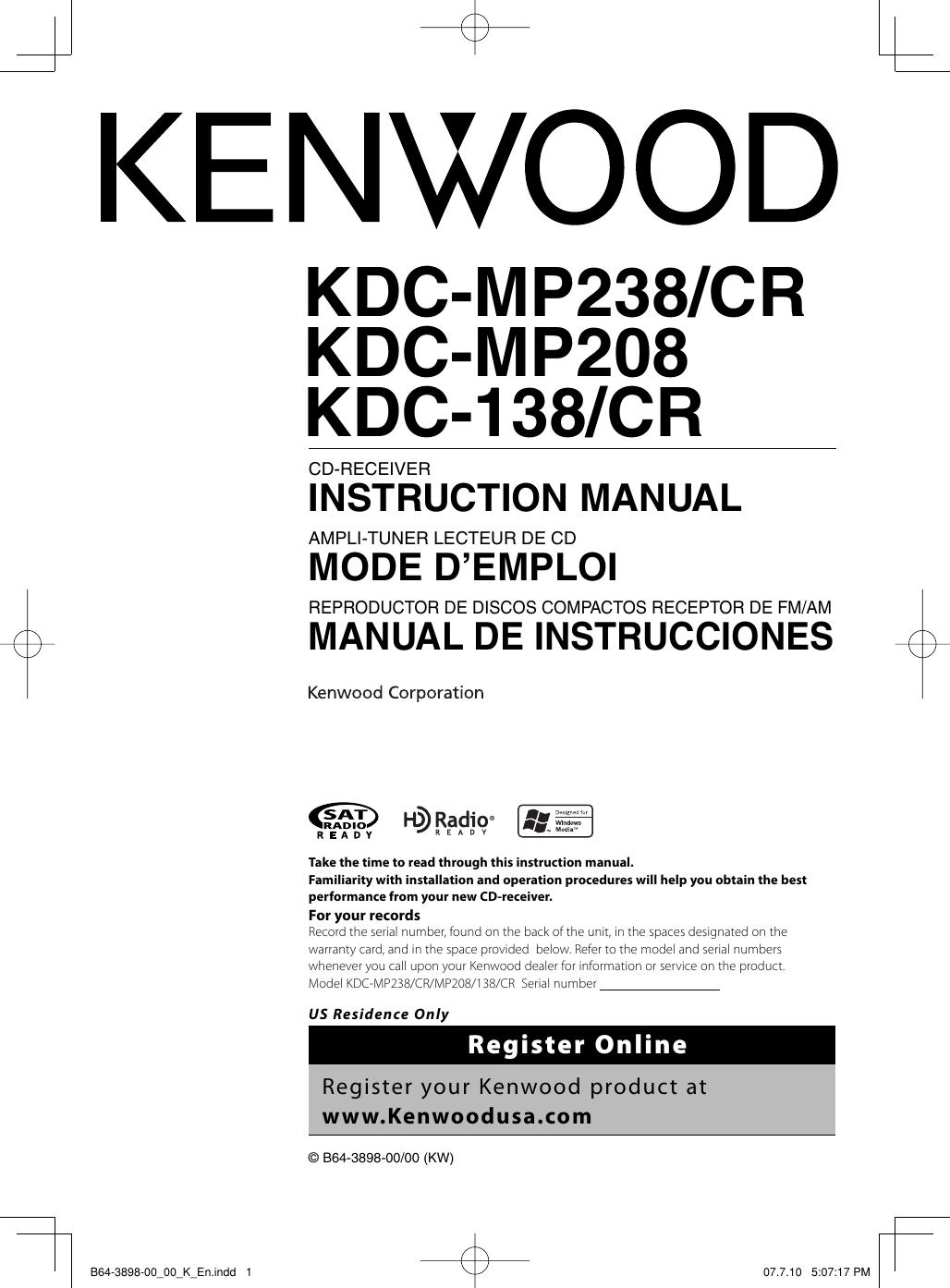 [SCHEMATICS_4US]  798A3 Kenwood Kdc Mp208 Wiring Diagram | Wiring Library | Kenwood Kdc Mp208 Wiring Diagram |  | Wiring Library