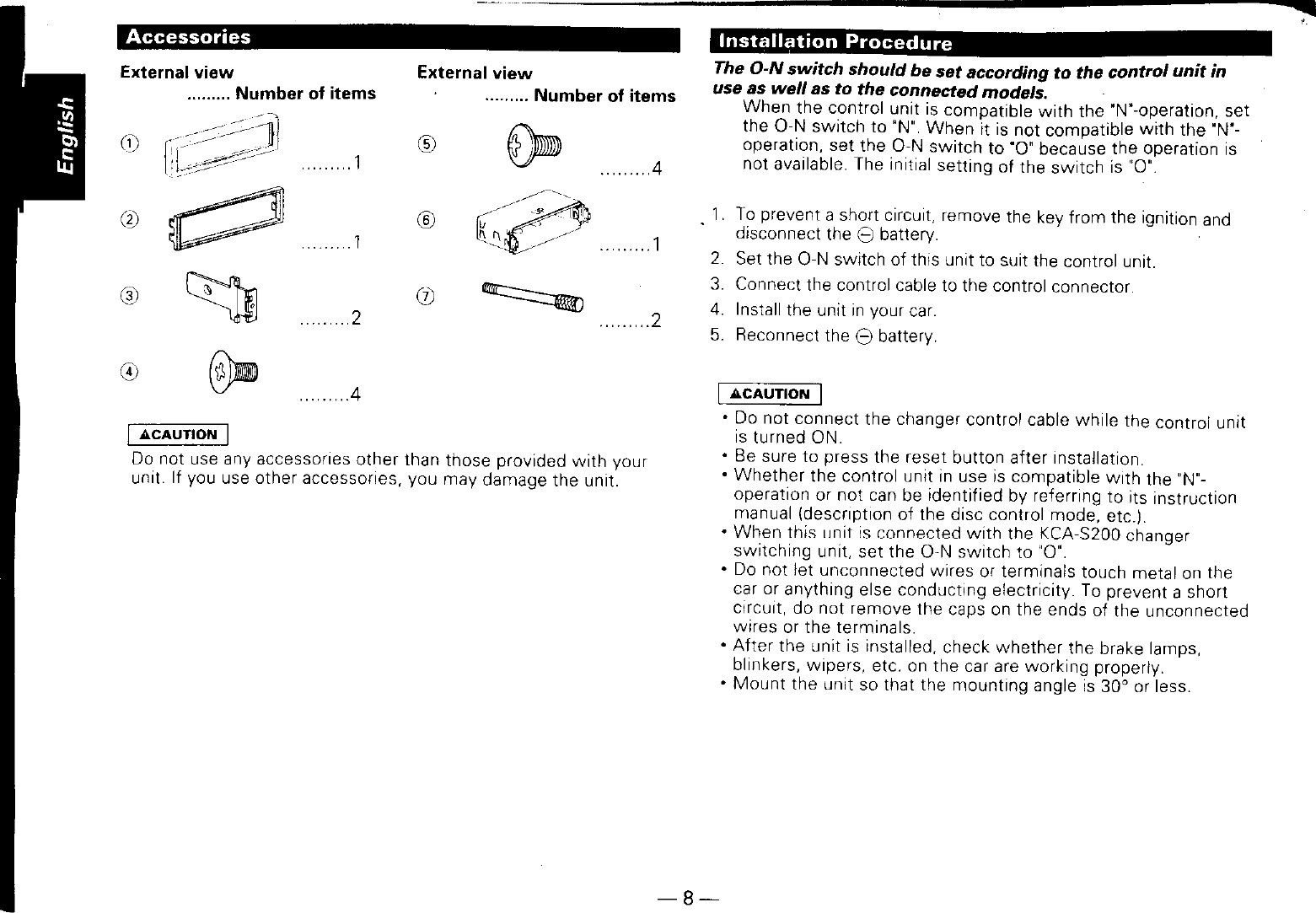 Kenwood Kdc P200 Owner S Manual Wiring Diagram Page 8 Of 12