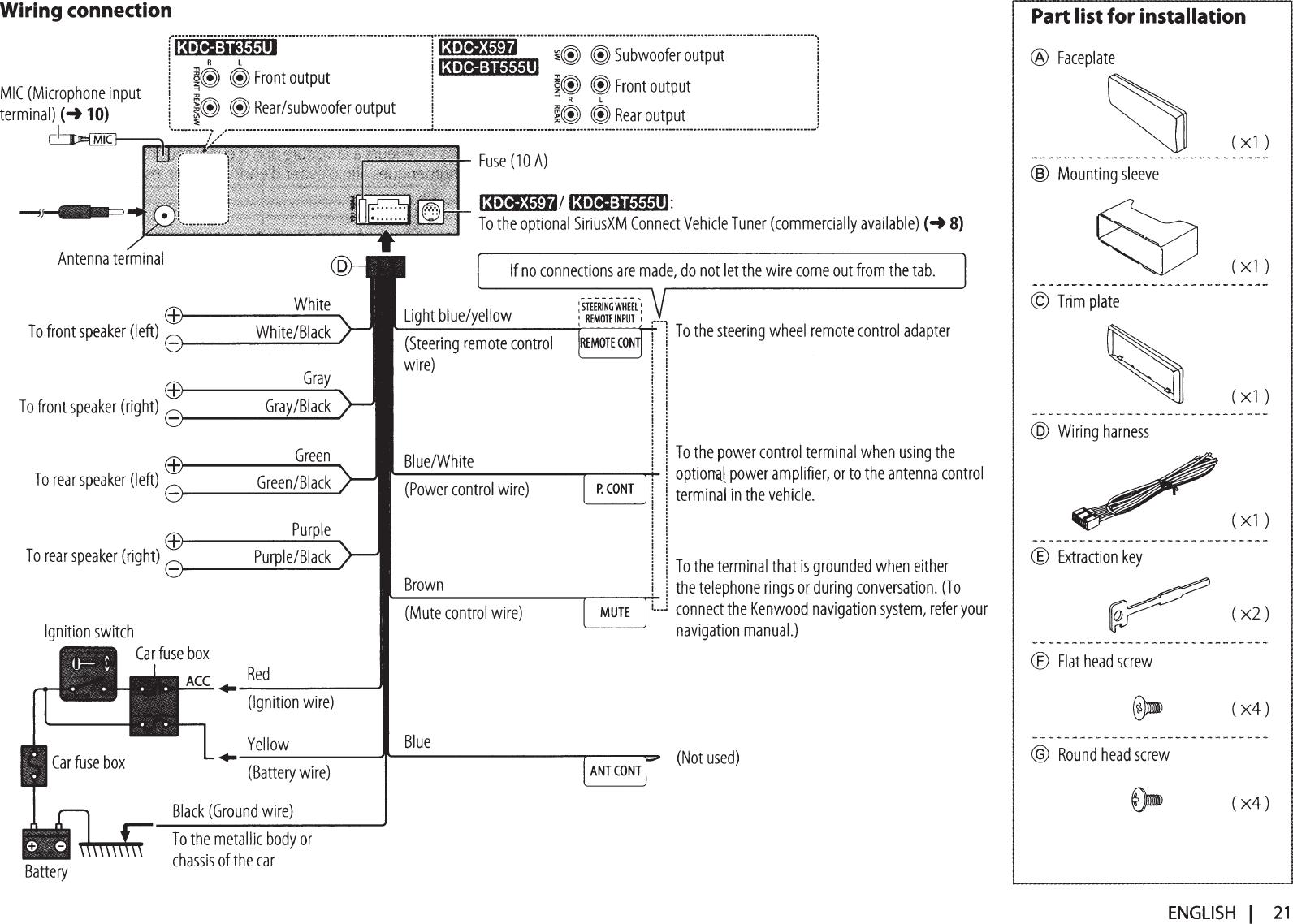 Kenwood Kdc X597 Wiring Diagram - Wiring Diagram K10 on