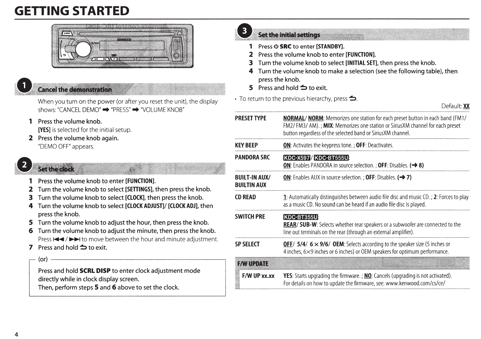 Car Stereo Wiring Diagram Kenwood Model Kdc Bt555u