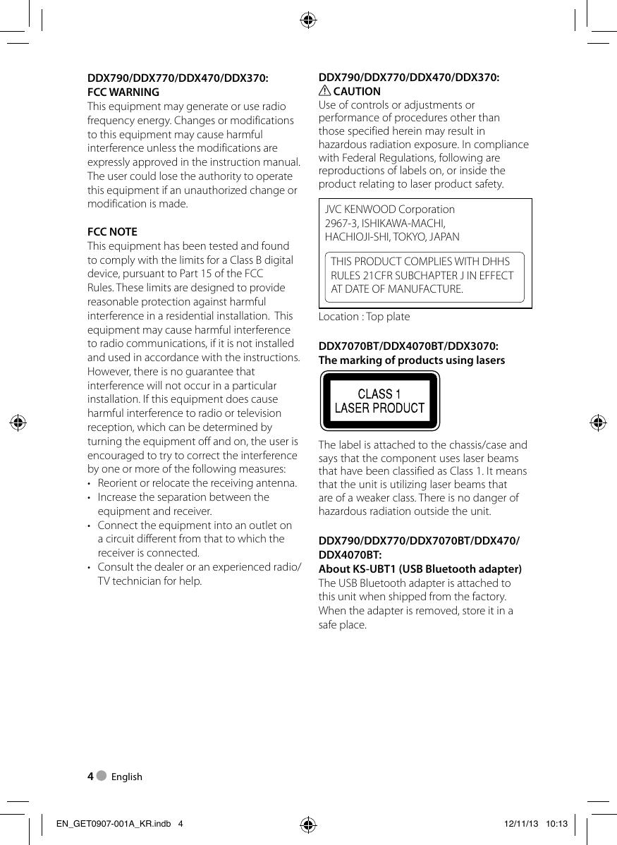 Kenwood Computer Monitor Ddx3070 Users Manual