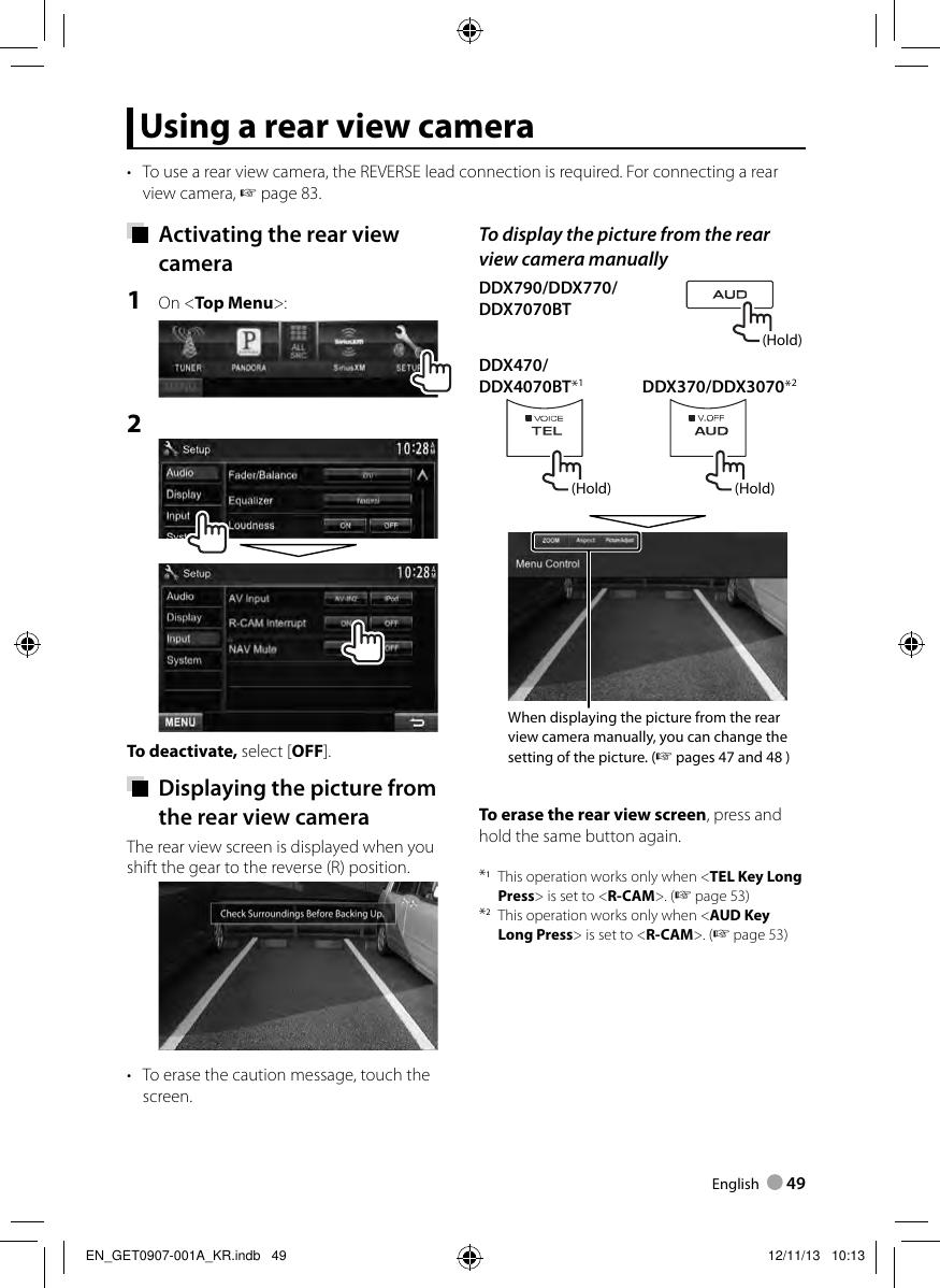 Kenwood Ddx370 Car Dvd Player Users Manual