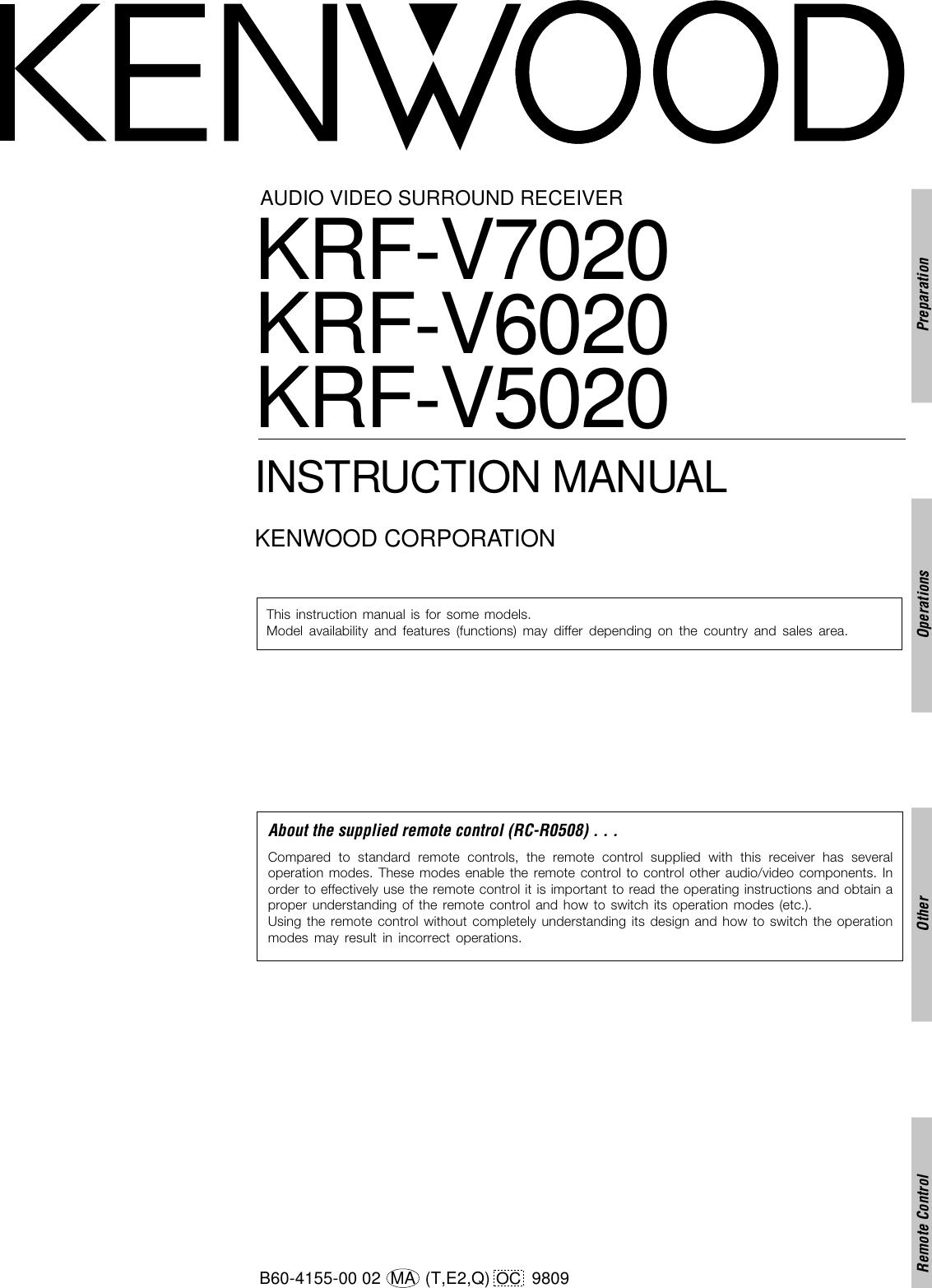 kenwood surround sound vr 60rs wiring diagram wiring diagramkenwood surround  sound vr 60rs wiring diagram best