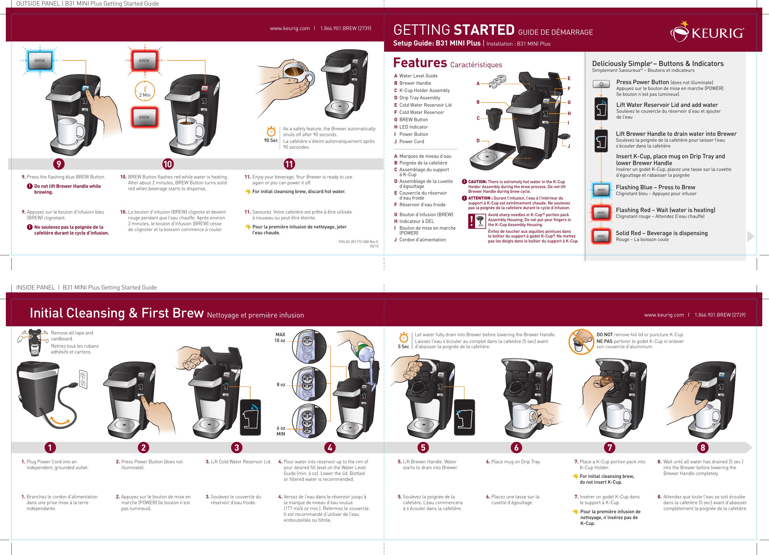 keurig mini plus quick start guide keur quickstart 60 201173 000 revc rh usermanual wiki keurig k mini user guide keurig mini instruction manual