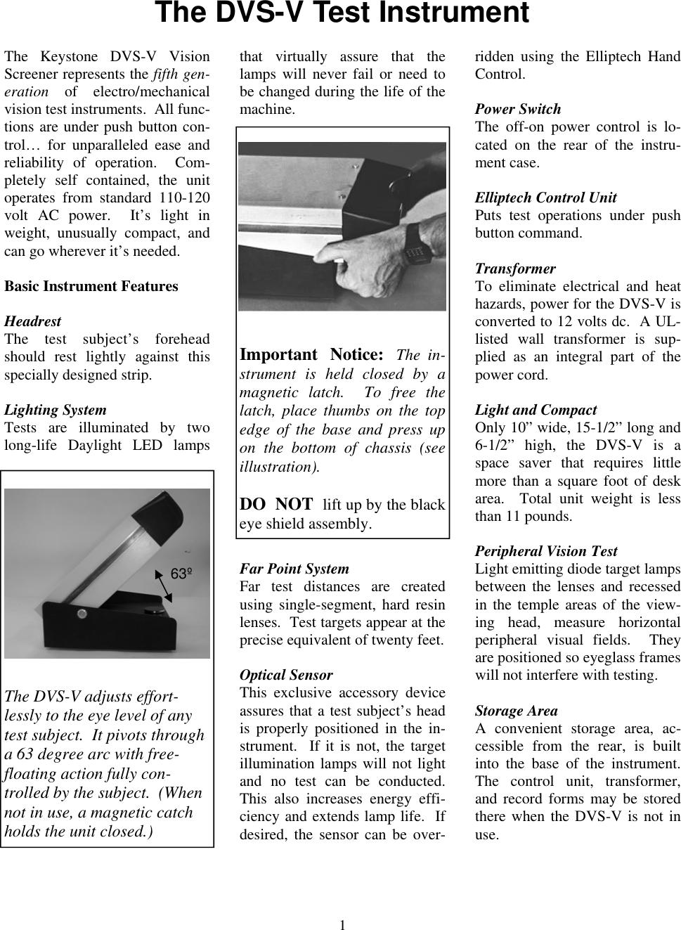 Keystone Projector 1157 Users Manual DVS V Elliptech V 1