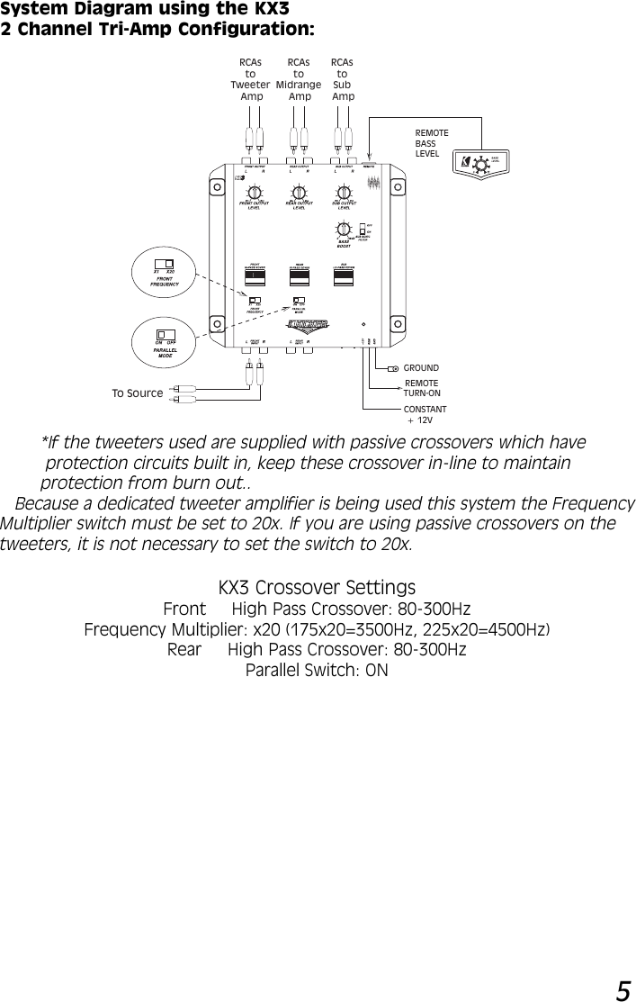 Kicker 2003 Kx3 Owners Manual Crossover Wiring Diagram For Page 5 Of 8