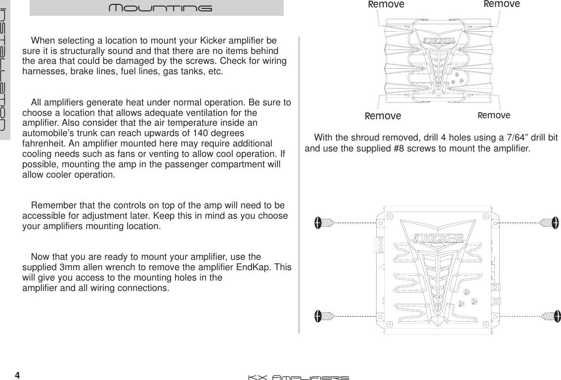 Kicker 2004 Kx400 1 Kx600 And Kx1200 Owners Manual Fahrenheit Wiring Diagram Page 4 Of 12