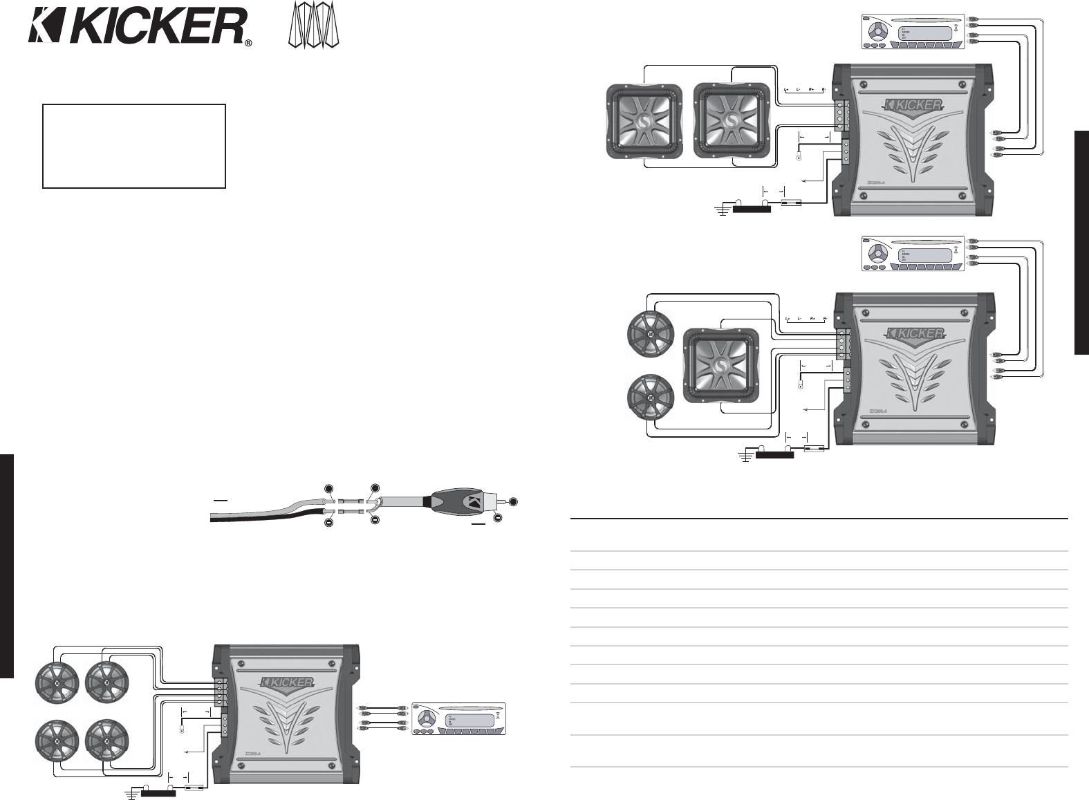 Single Kicker Wiring Diagram