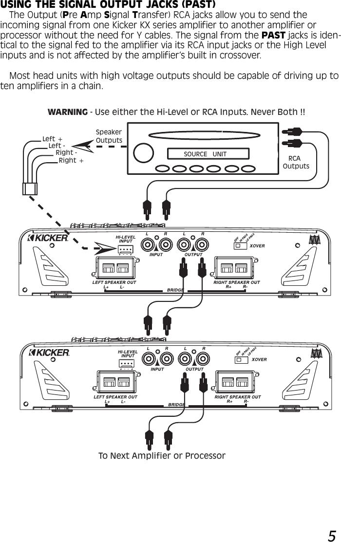 Kicker Kx120 2 Kx 150 And Kx200 Owners Manual 120 Amplifier August 2002