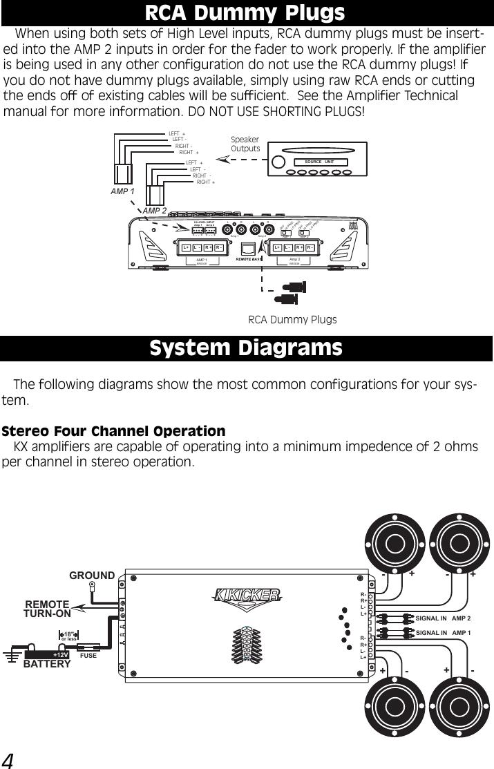 Kicker Kx300 4 Kx600 And Kx800 Owners Manual Kx 3004 03 Zx300 1 Wiring Diagram Page Of 12