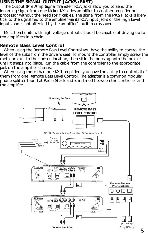 Kicker Amp Wiring Diagram from usermanual.wiki