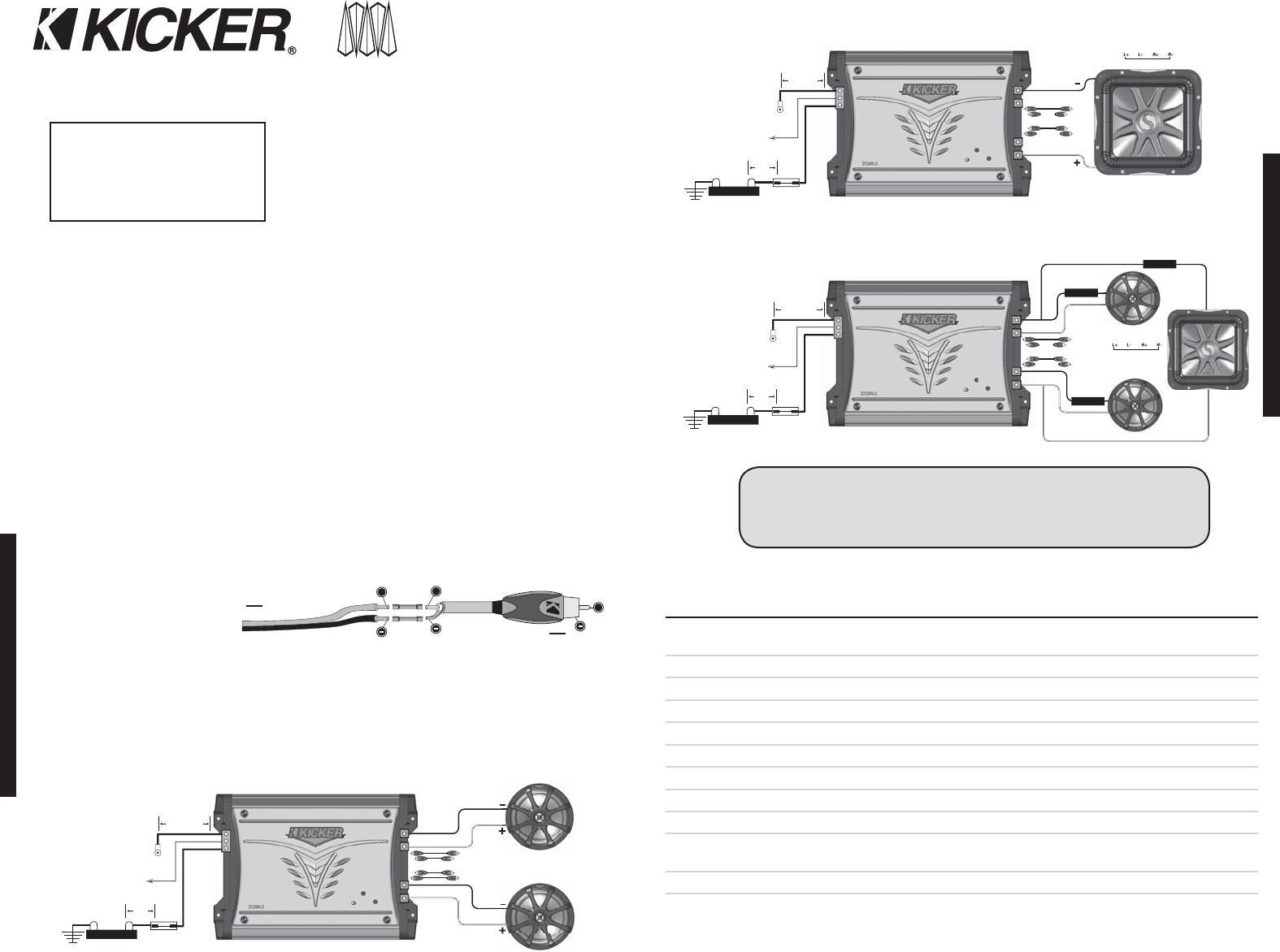 Kicker Comp R 12 Wiring Diagram from usermanual.wiki