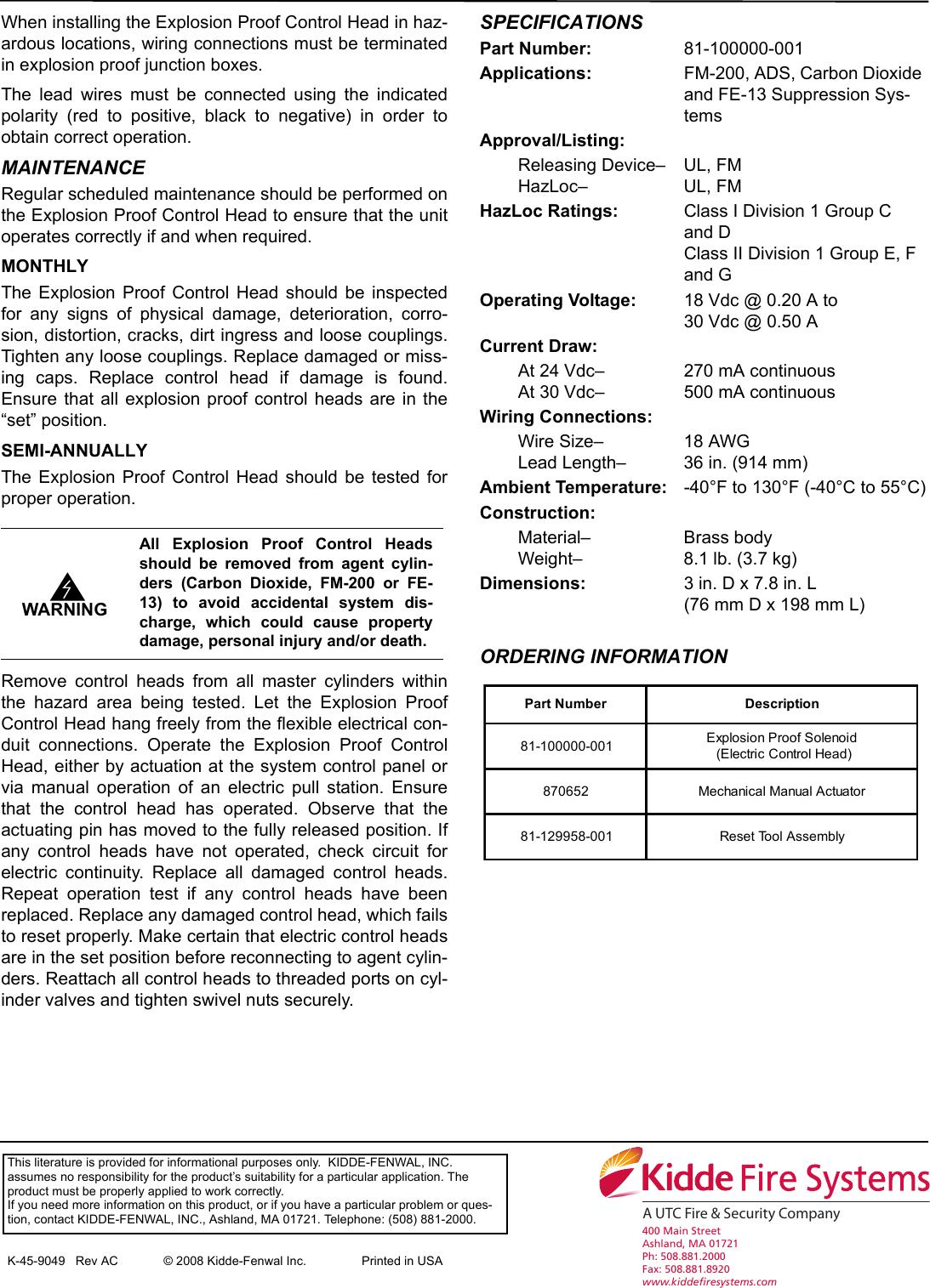 Kidde Fire Systems Smoke Alarm K 45 9049 Users Manual