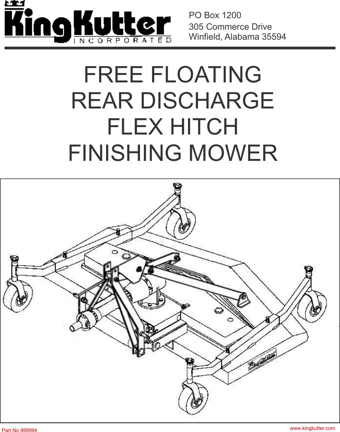 King Kutter Lawn Mower 999994 Users Manual