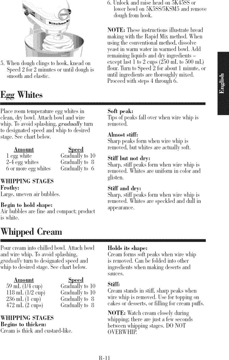 Kitchenaid 5kpm5ber4 User Manual Mixer Manuals And Guides 1402614l Dough Wiring Diagram Page 11 Of 12