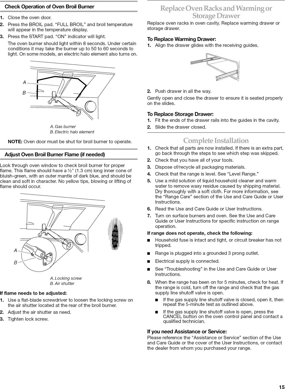Kitchenaid KGSK901SSS03 User Manual 30 FREESTANDING GAS