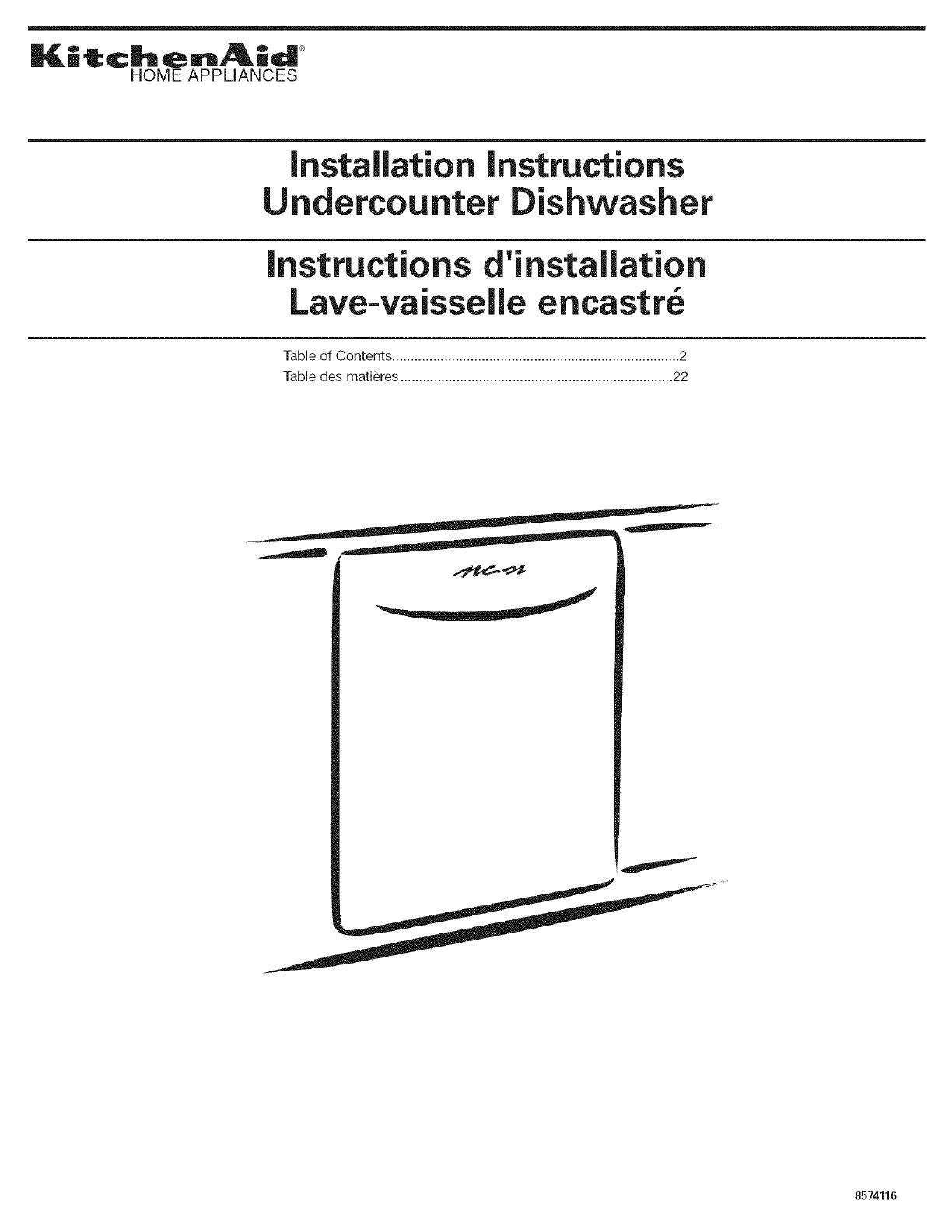 Kitchenaid Kudc02irwh3 User Manual Dishwasher Manuals And Guides Wiring Diagram L0608083