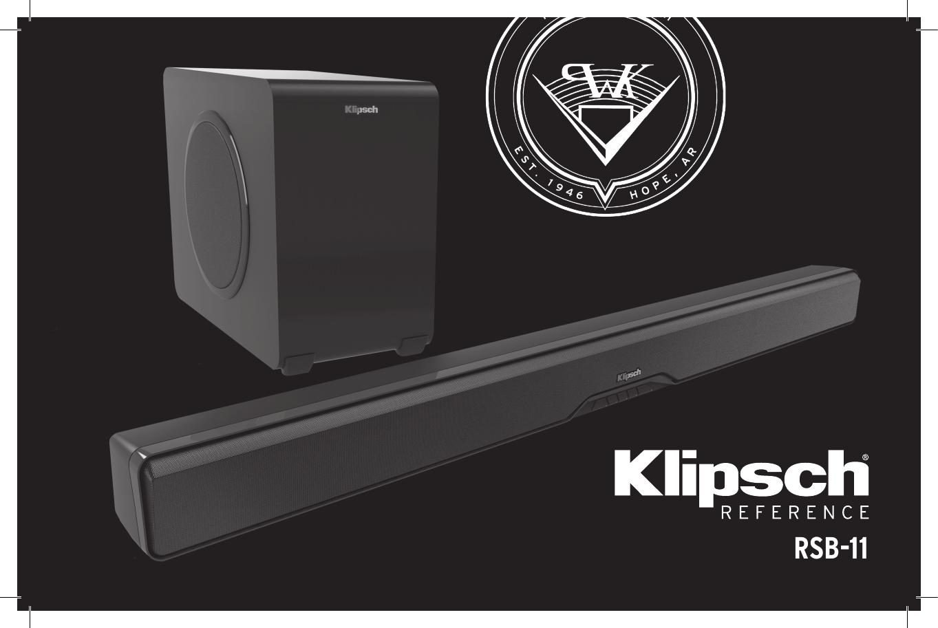 Klipsch RSB-11 Soundbar and Subwoofer