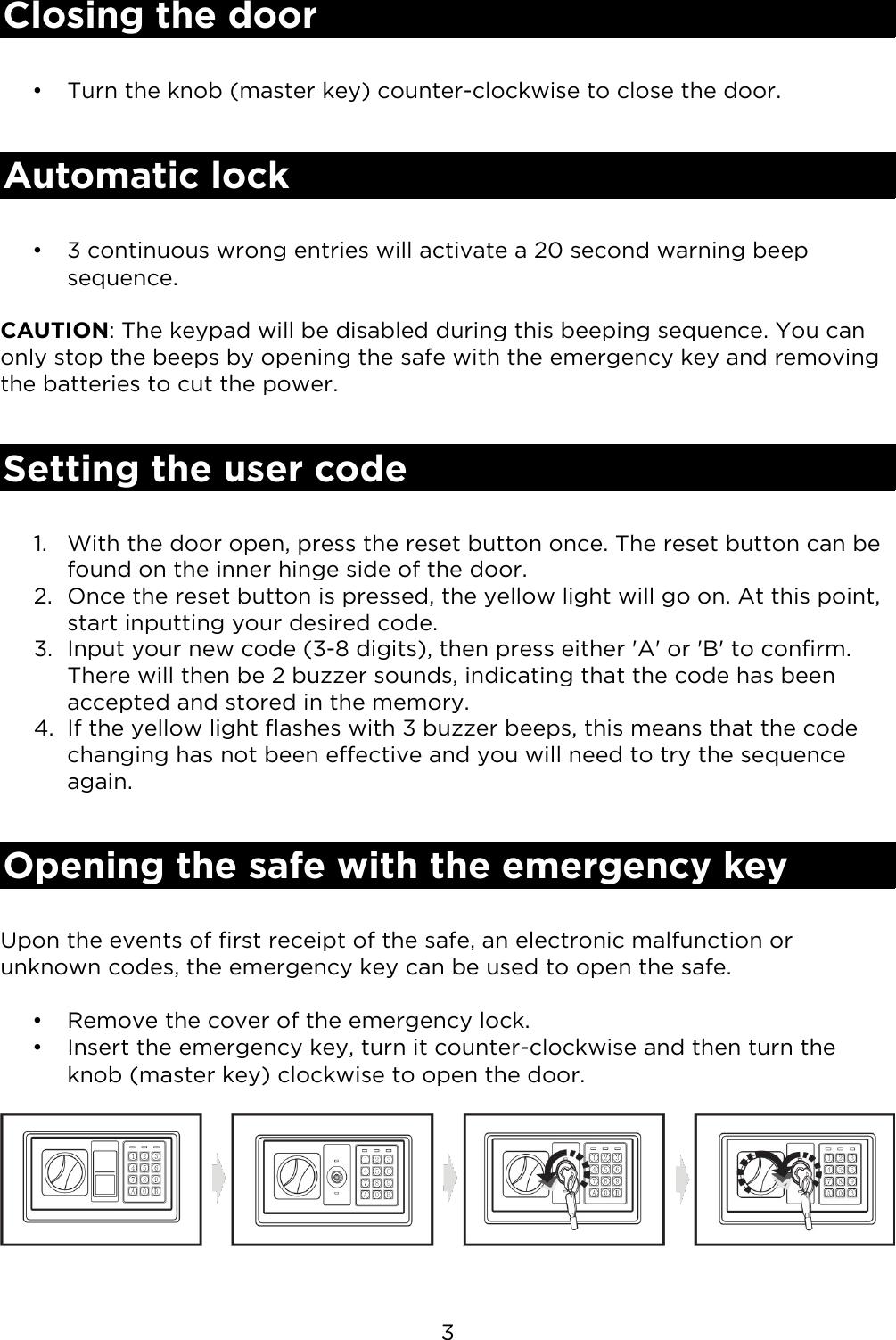 KASAFEBOXXA Electronic Safe Security Box User Manual A