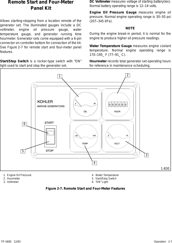 Kohler 3 5Cfz 4Cz 6 5Cz Users Manual Operation Manual, 4/6 5