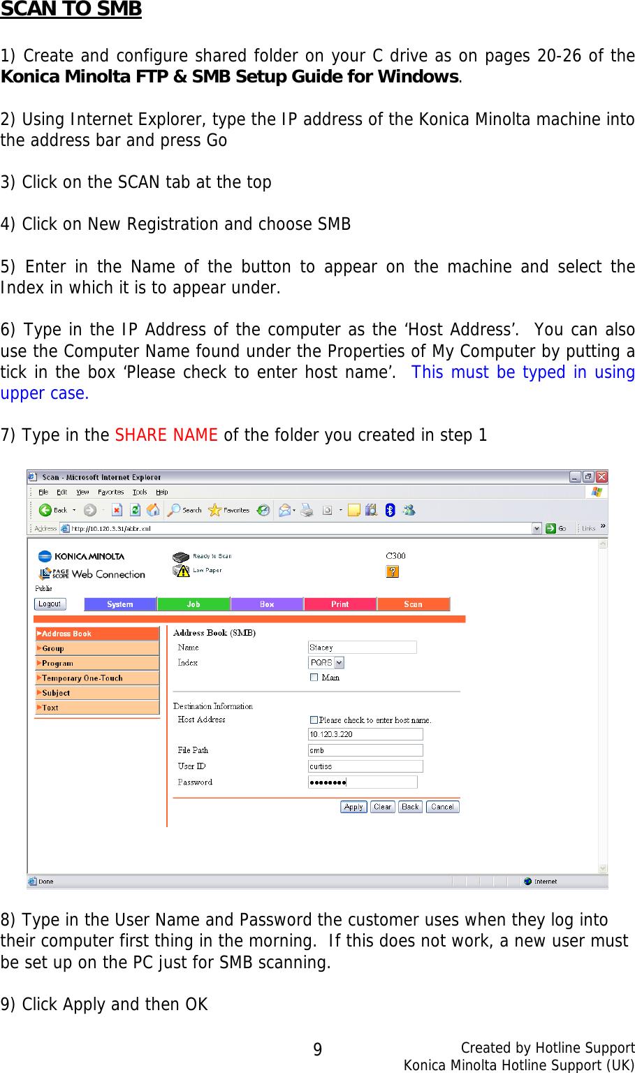 Konica Minolta Bizhub C300 Users Manual Scanning Guide V6 0_Colour_V1 2