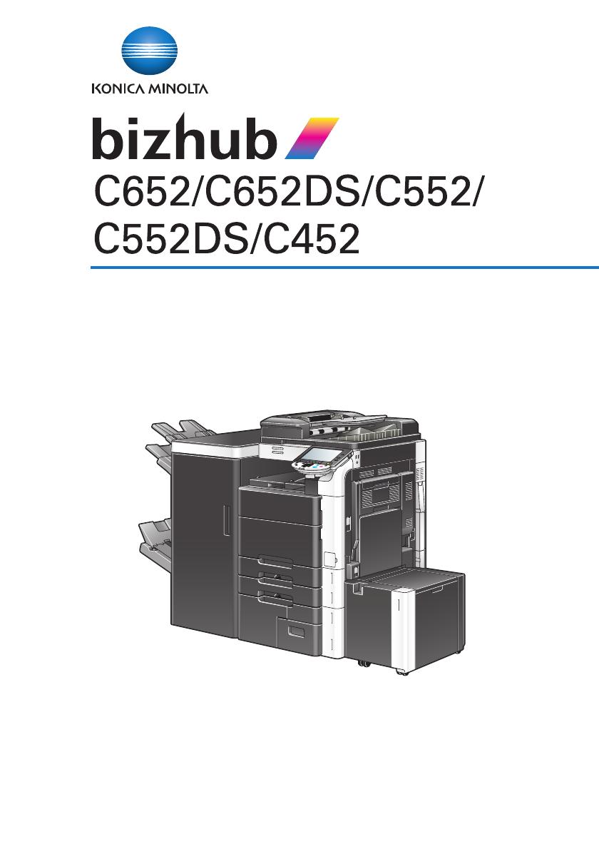 Konica Minolta Bizhub C452 Instruction Manual