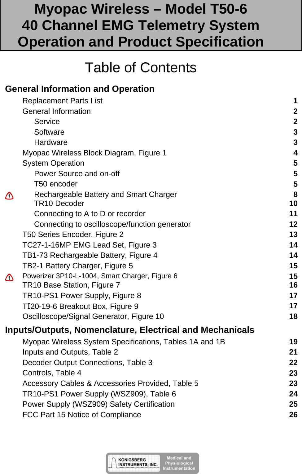 konigsberg instruments t50 myopac wireless transmitter user manual 1 rh usermanual wiki Apple iPhone User Manual LG Phone User Guide