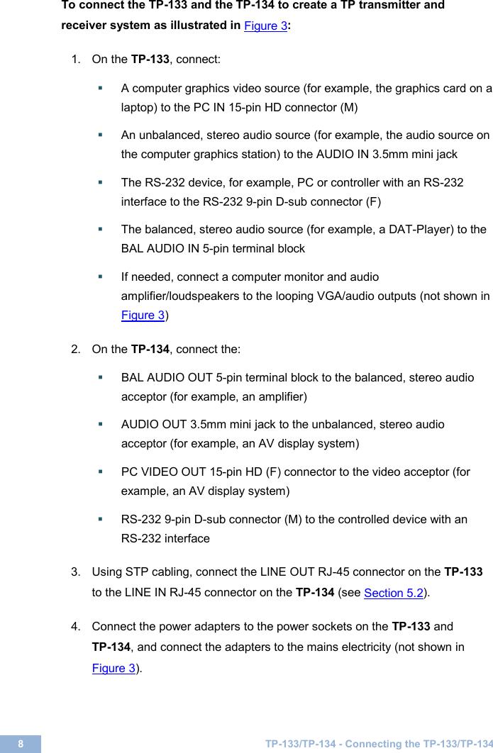 Kramer Electronics Satellite Radio Tp 133 Users Manual