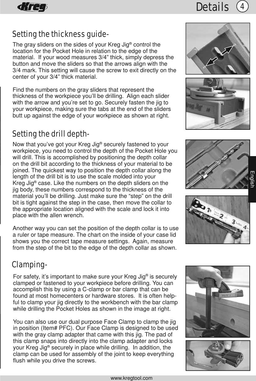 Kreg Tool Jig R3 Users Manual