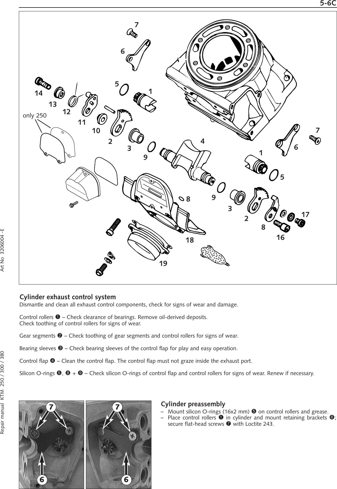 Ktm Ktm250 Sx Users Manual RA_250/380EXC_03_E
