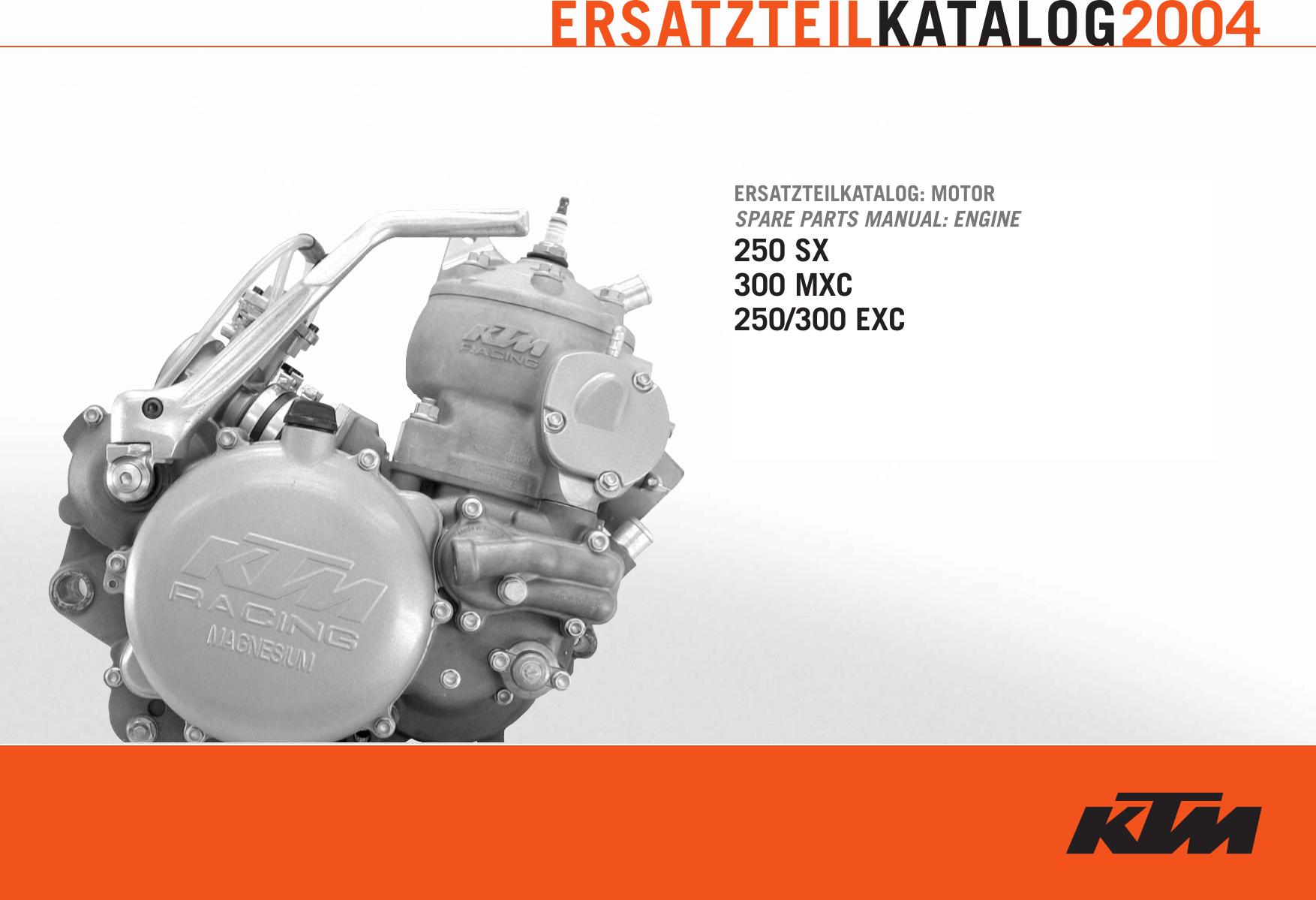 Ktm Racing Engine 250 Sx Users Manual ETK_MO_250_300_2004
