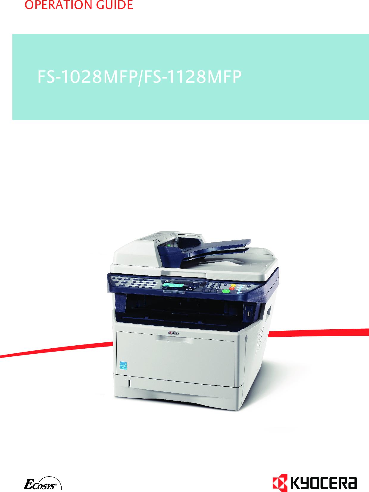 Kyocera FS 1128MFP 1028MFP/FS User Manual To The A2cb7774 1acb 4915