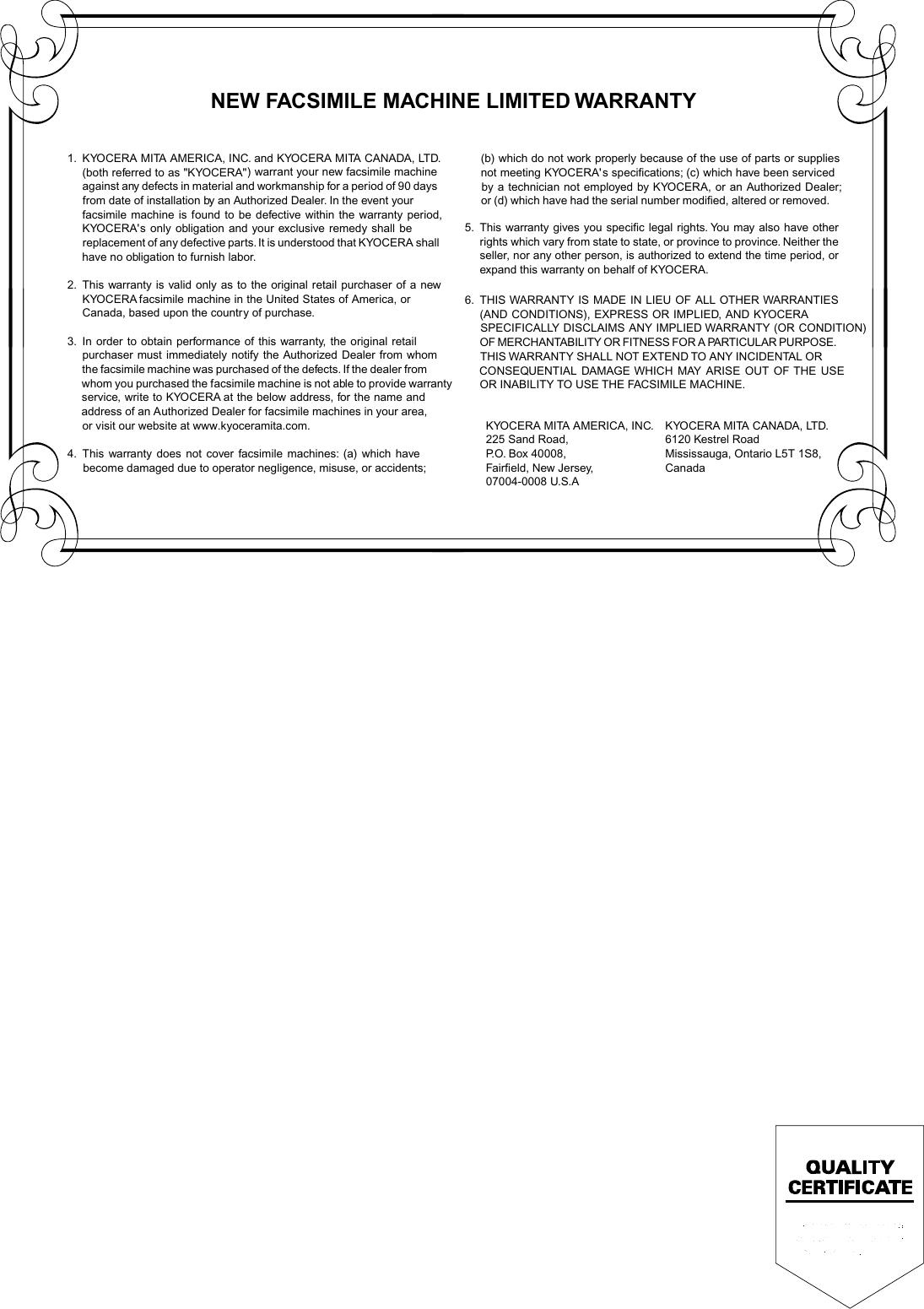 Kyocera Km F1060 Users Manual PJQQC0017ZD_AJ_IFAX_Quick_USA