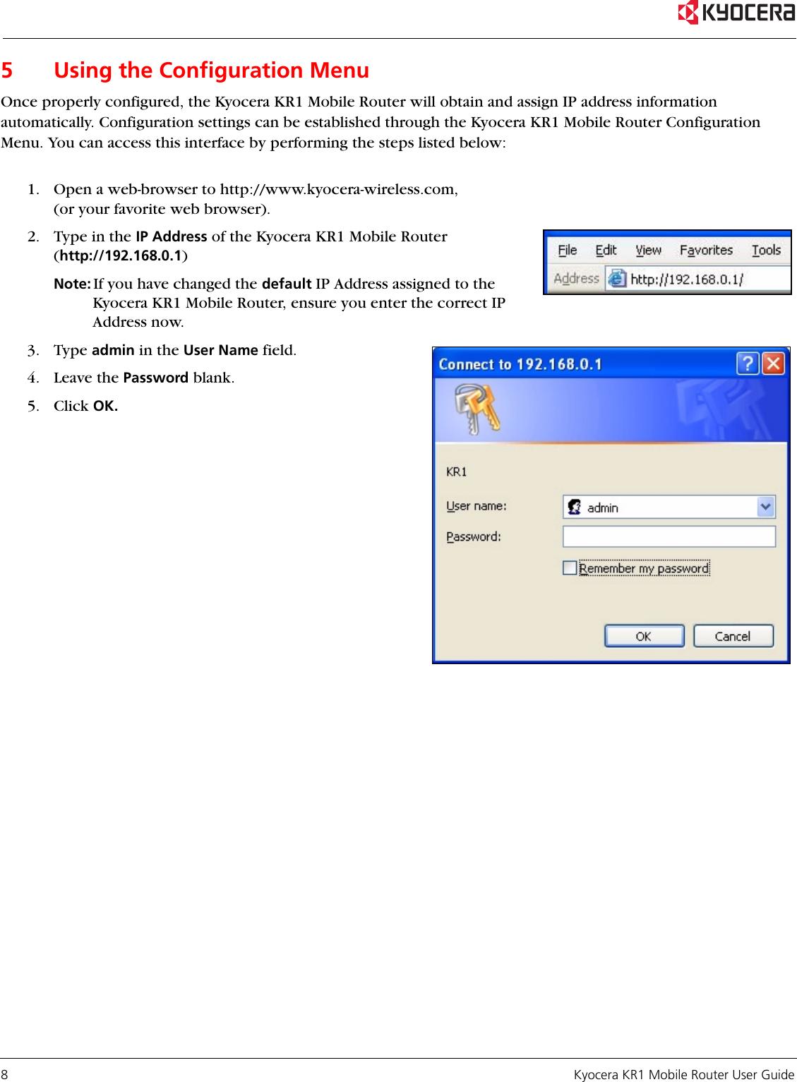 Kyocera Kr1 Users Manual KyoceraLogo