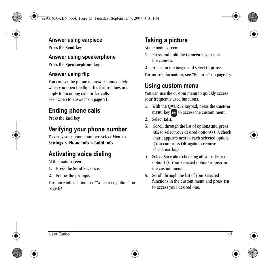 Kyocera Wild Card Users Manual 82 G1950 2EN