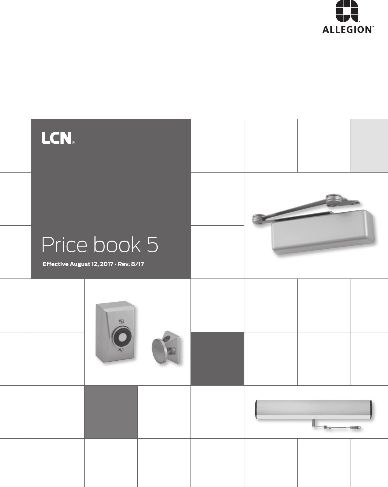 LCN 8310-852TWP Wall Mounted Wireless Actuator 6 Diameter 6 ...