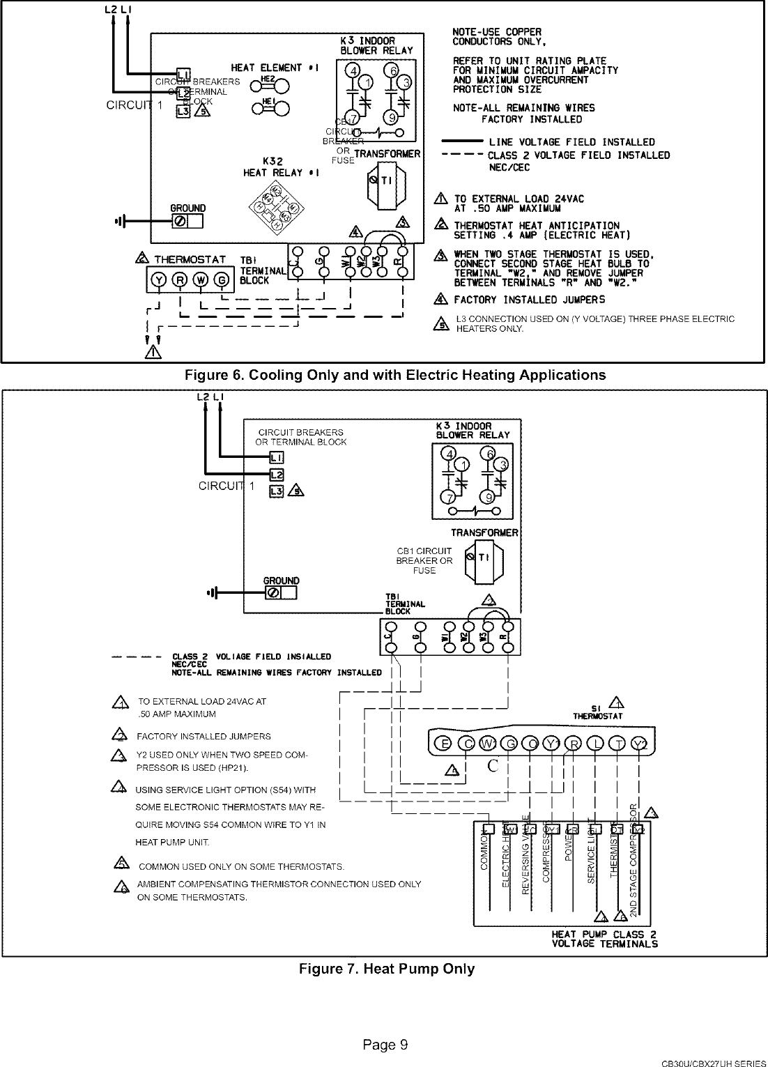 Lennox Air Handler Indoor Blowerevap Manual L0805327 Mm 2 58t Wiring Diagram For Thermostat Page 9 Of 12
