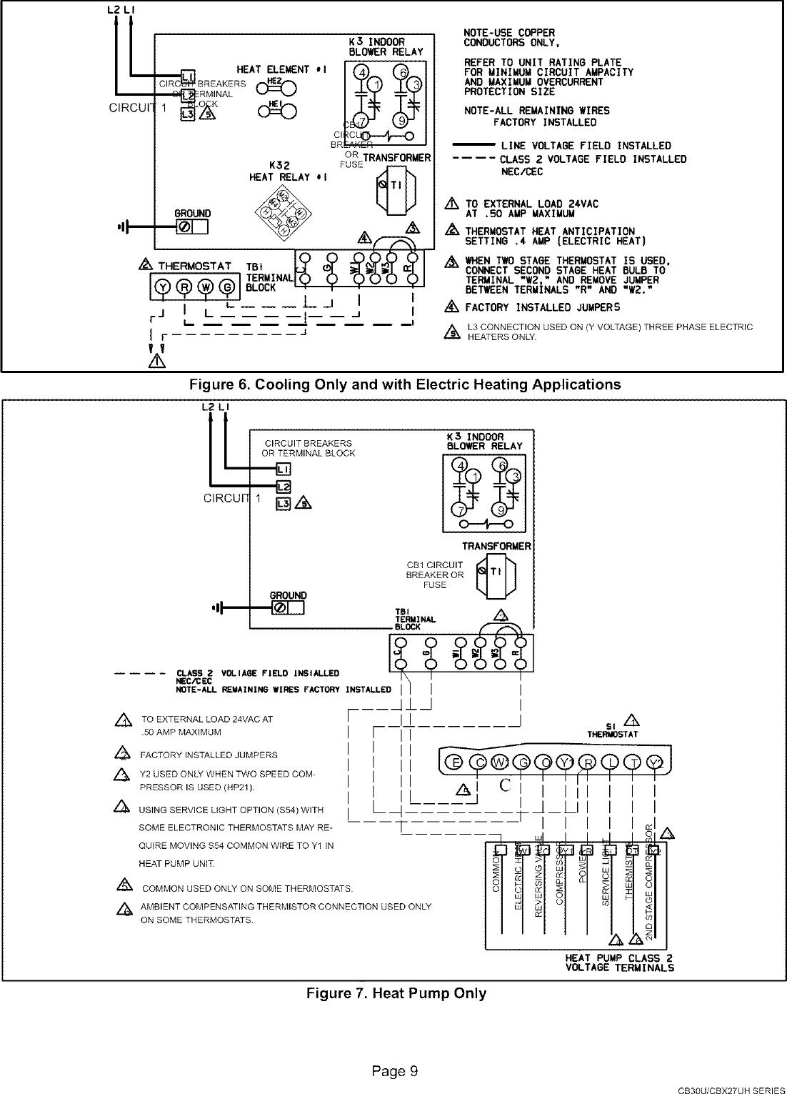 Lennox Air Handler Indoor Blowerevap Manual L0805327 Wiring Diagram Page 9 Of 12