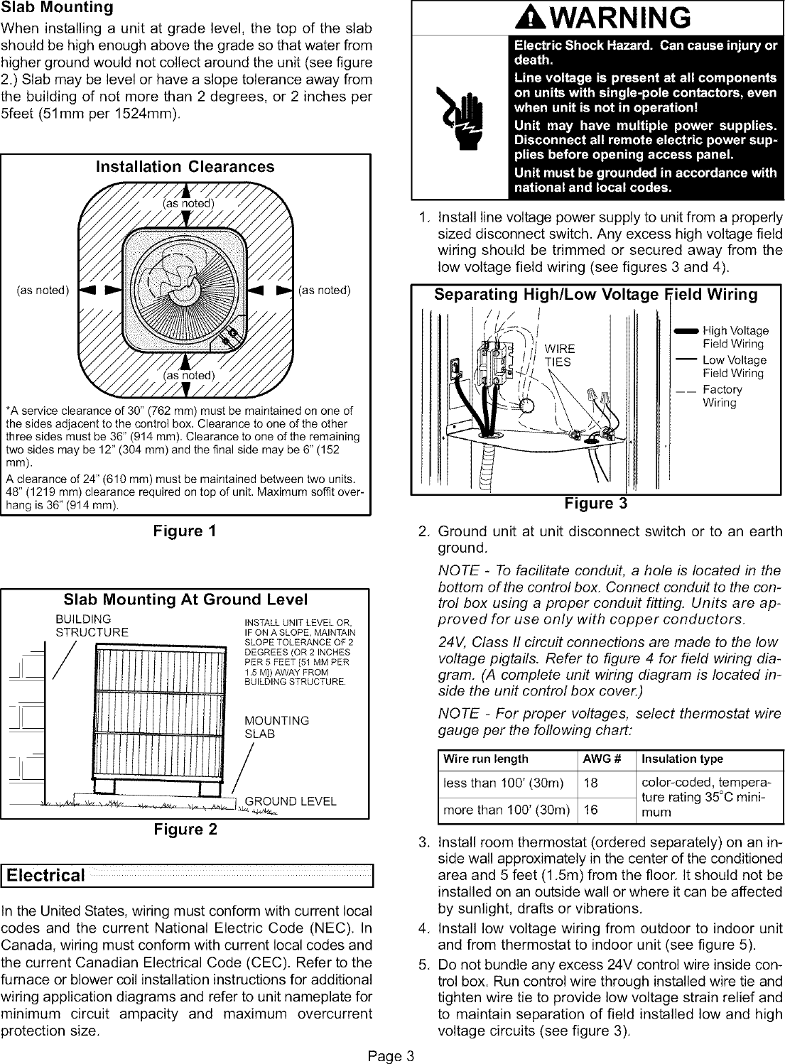 Lennox Air Conditioner Heat Pumpoutside Unit Manual L0805477 Low Voltage Wiring Guide Page 3 Of 12