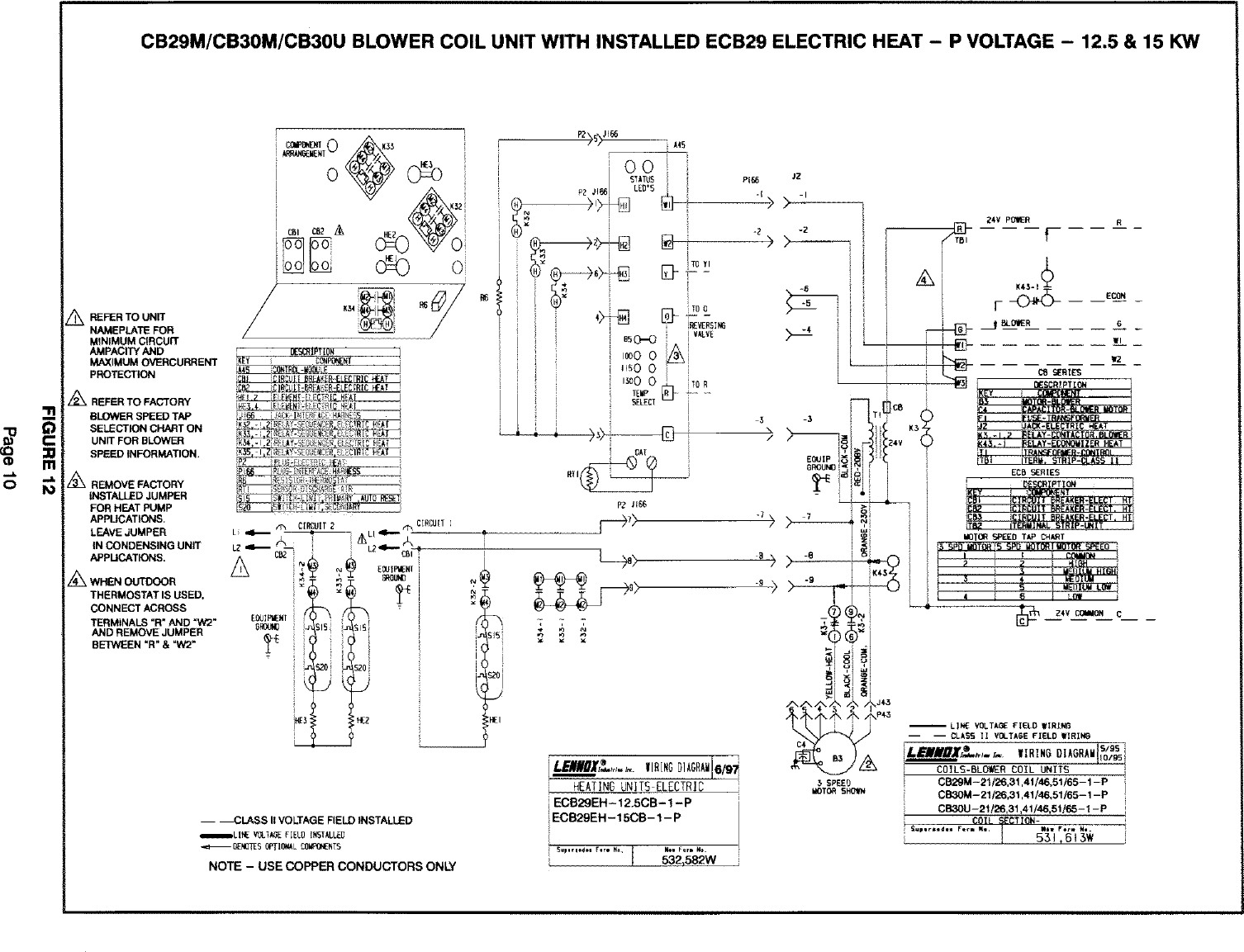 Lennox Air Handler Auxiliary Heater Kit Manual L0805584 Wiring Diagram Page 10 Of 12