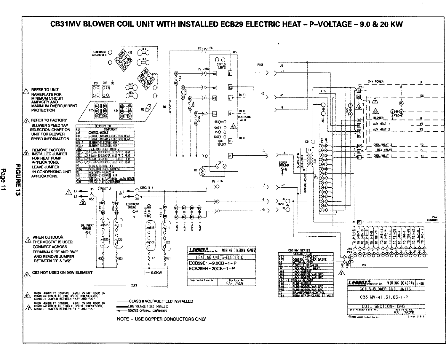 Compressor Wiring Diagram Lennox Cb29m Schematic Diagrams Friedrich Air Handler Auxiliary Heater Kit Manual L0805584