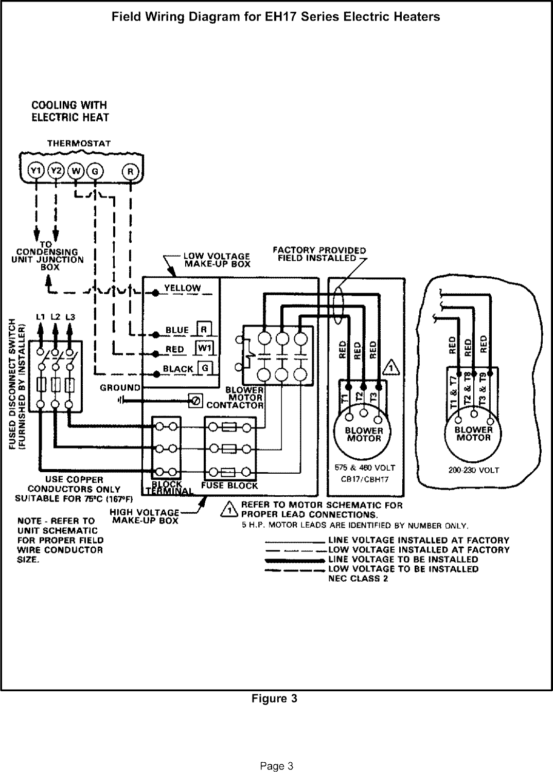 Lennox Air Handler Auxiliary Heater Kit Manual L0805586 Electric Heat Wiring Diagrams Page 3 Of