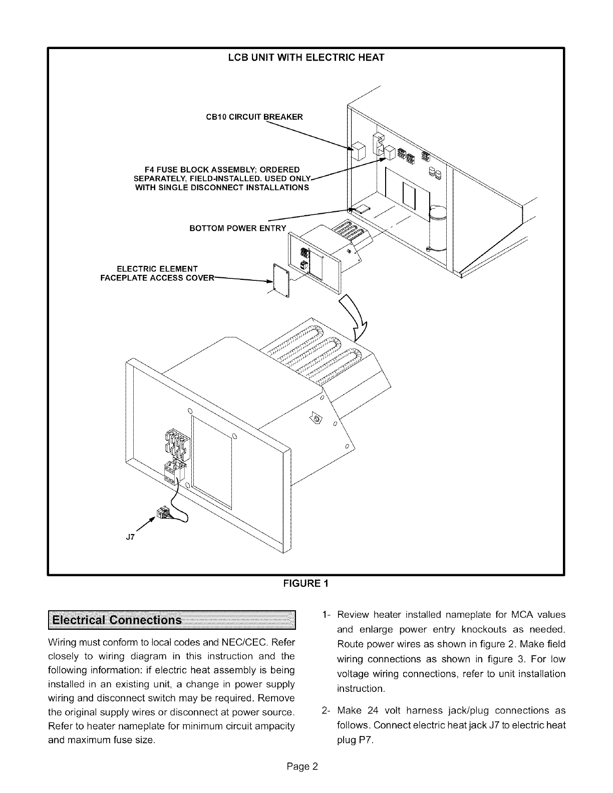 Lennox Air Handler Auxiliary Heater Kit Manual L0805589 Wiring Diagram For Electric Heat