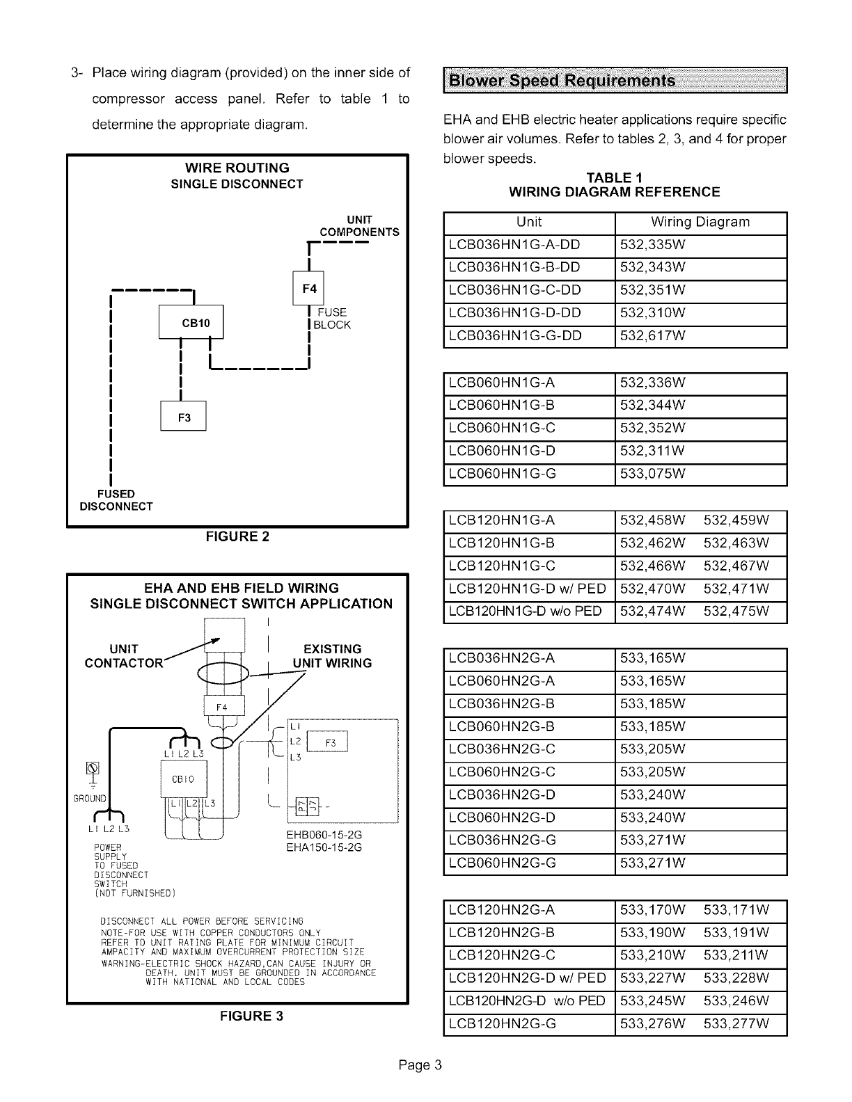 Lennox Air Handler Auxiliary Heater Kit Manual L0805589 Electric Heat Wiring Diagrams Place Diagram Provided On The Inner Side Of