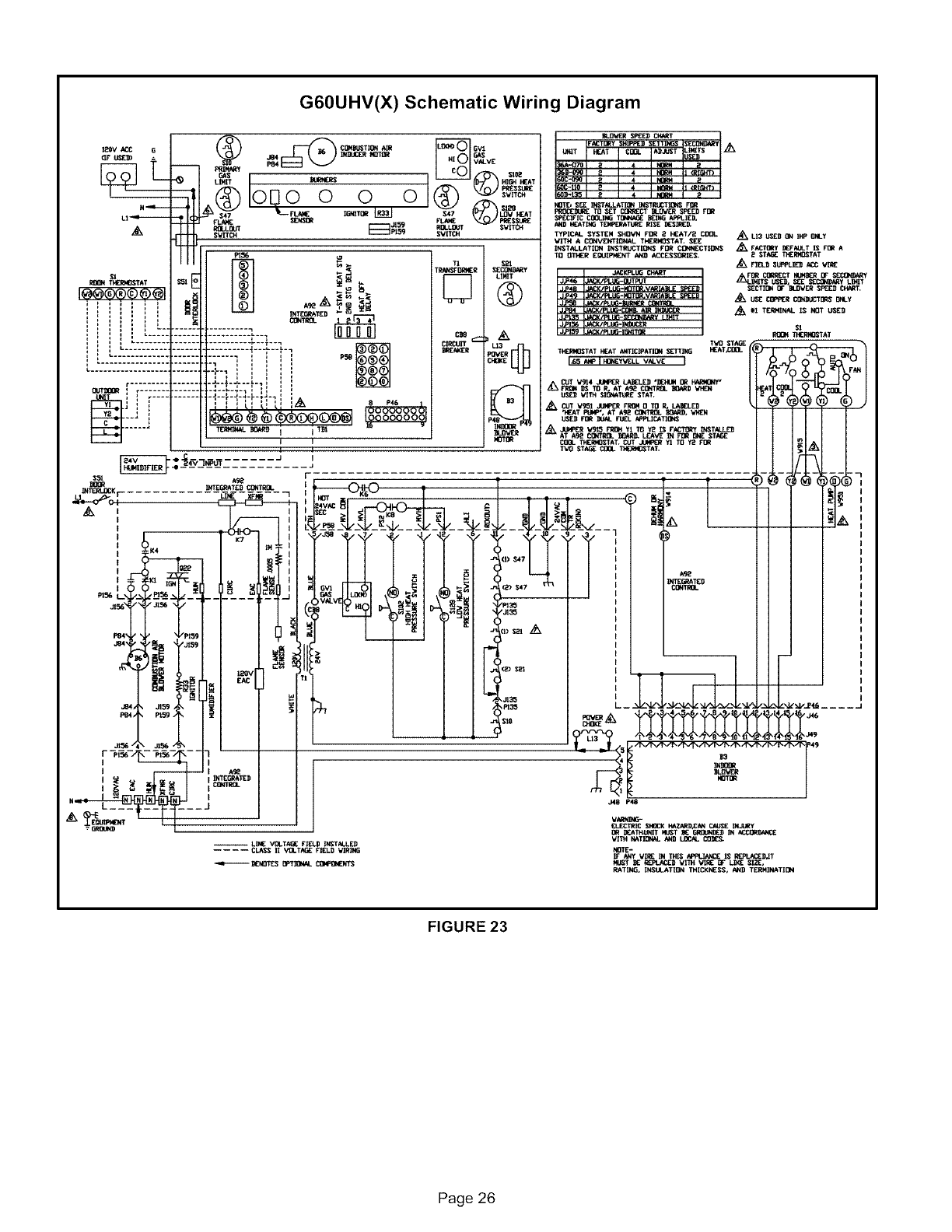 Lennox Furnace Heater Gas Manual L0806201 Thermostat 2 Heat 1 Air Wiring Diagram G60uhvx Schematic