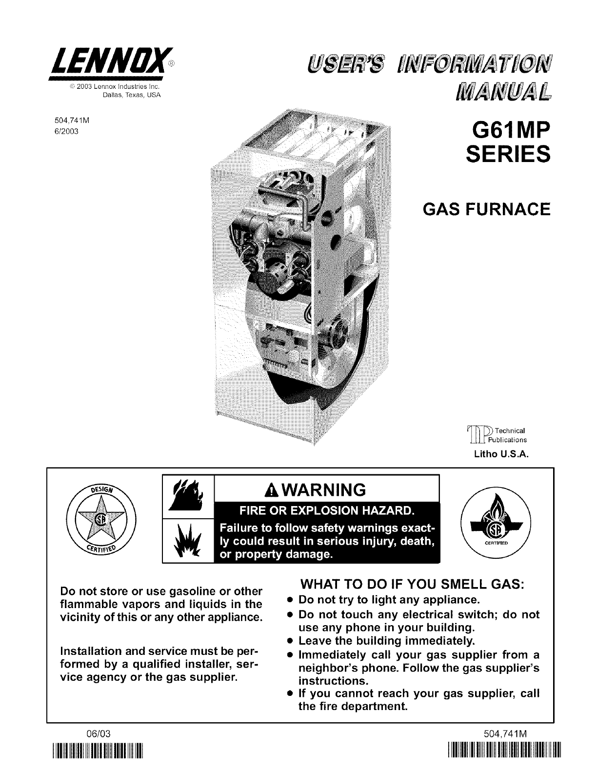 lennox furnace heater gas manual l0806228 rh usermanual wiki Lennox Furnace Parts lennox g61mpv furnace installation manual
